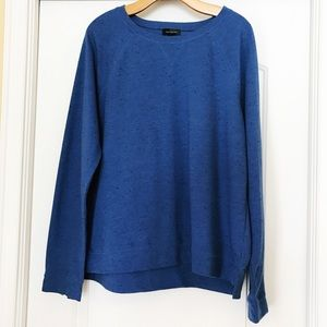 The Limited Blue Pullover Sweater Heather Blue XL